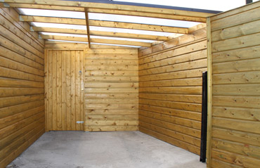 Bespoke Garden Shed Sitting Area