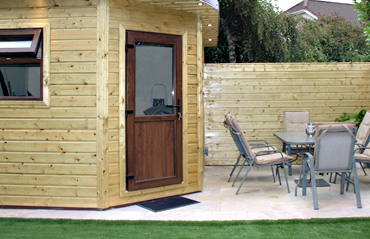 Garden Shed & Sitting Area