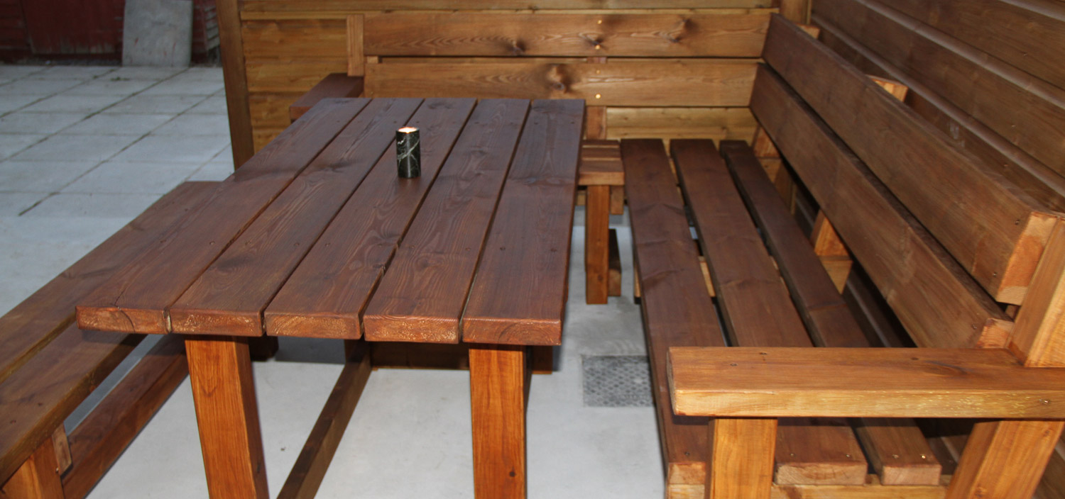 Corner Bench and Table Set 4